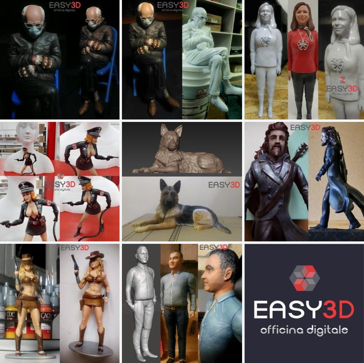 Statuine 3D ed action figure